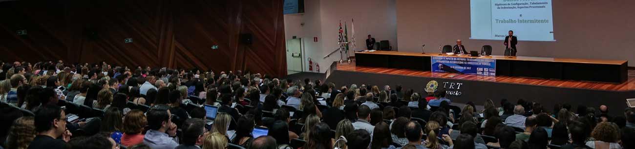 Operadores do direito discutem a reforma trabalhista em seminário no TRT da 2ª Região