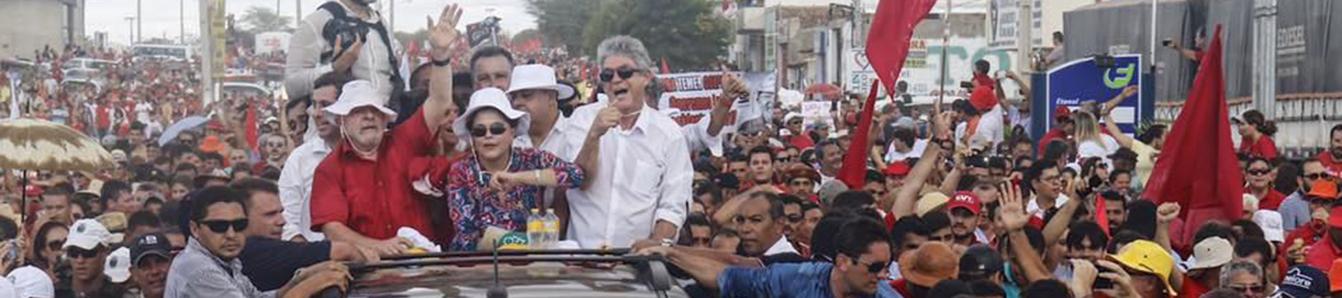 Em dia histórico, Lula e Dilma param sertão da Paraíba em ato popular